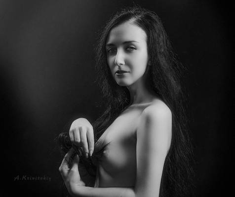 Black and white portrait., Кривицкий